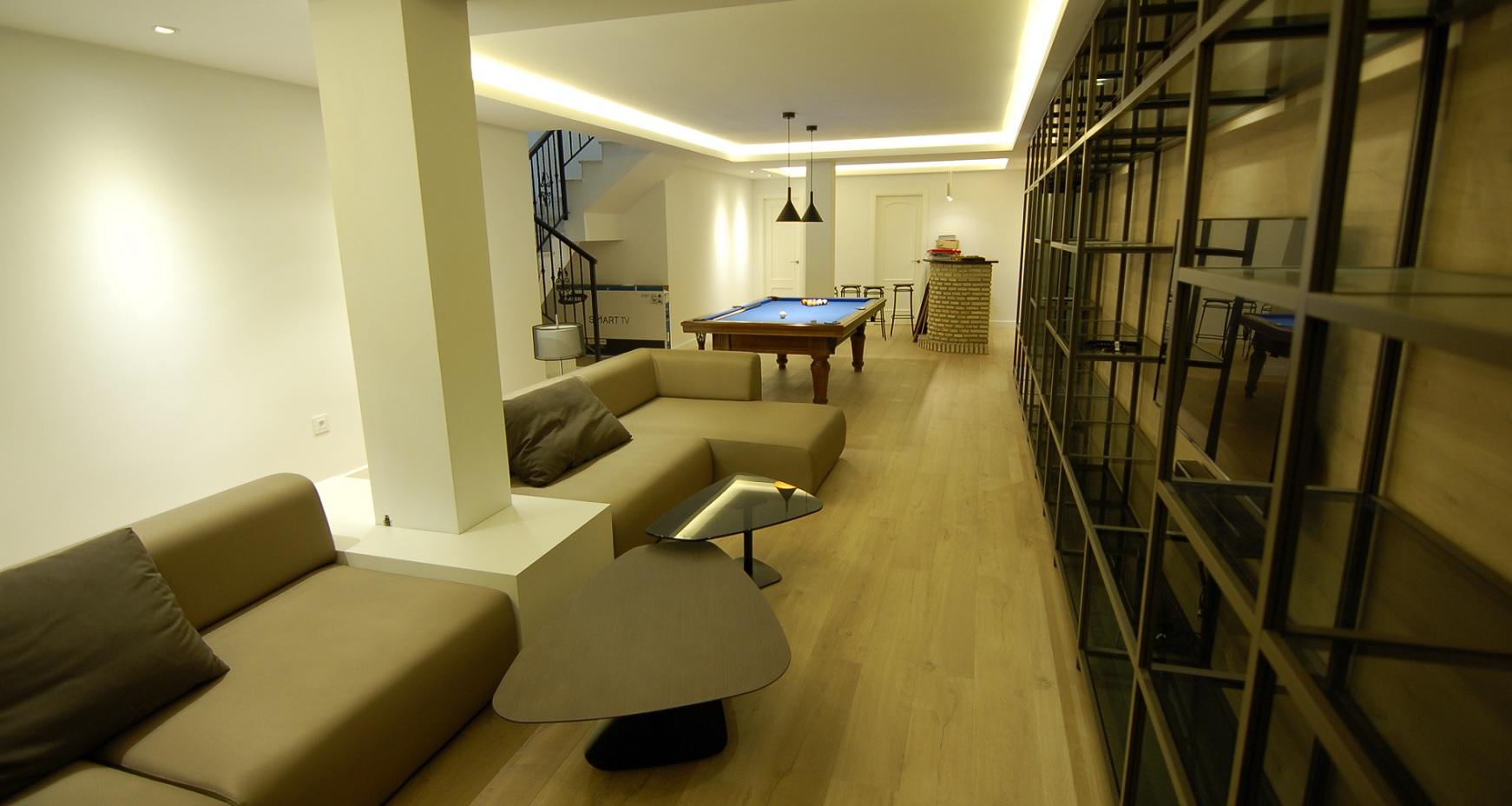Estado final proyecto reforma sotano enjoy living - Proyecto diseno de interiores ...